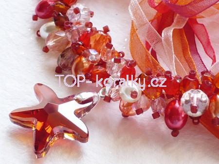 Swarovski náhrdelník housenka s komponenty swarovski - top-koralky