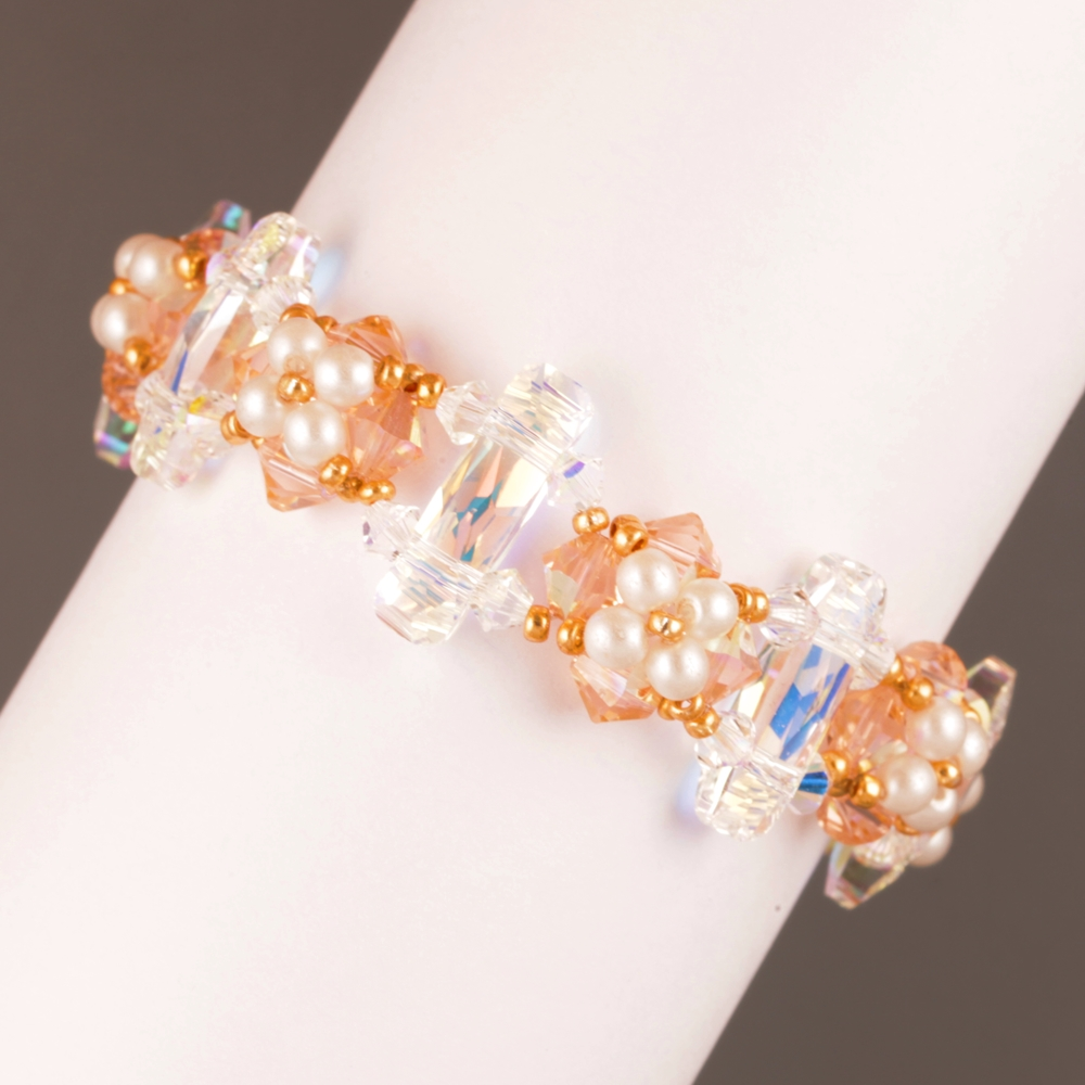 BEADING TUTORIAL BRACELET SWAROVSKI ELEMENTS