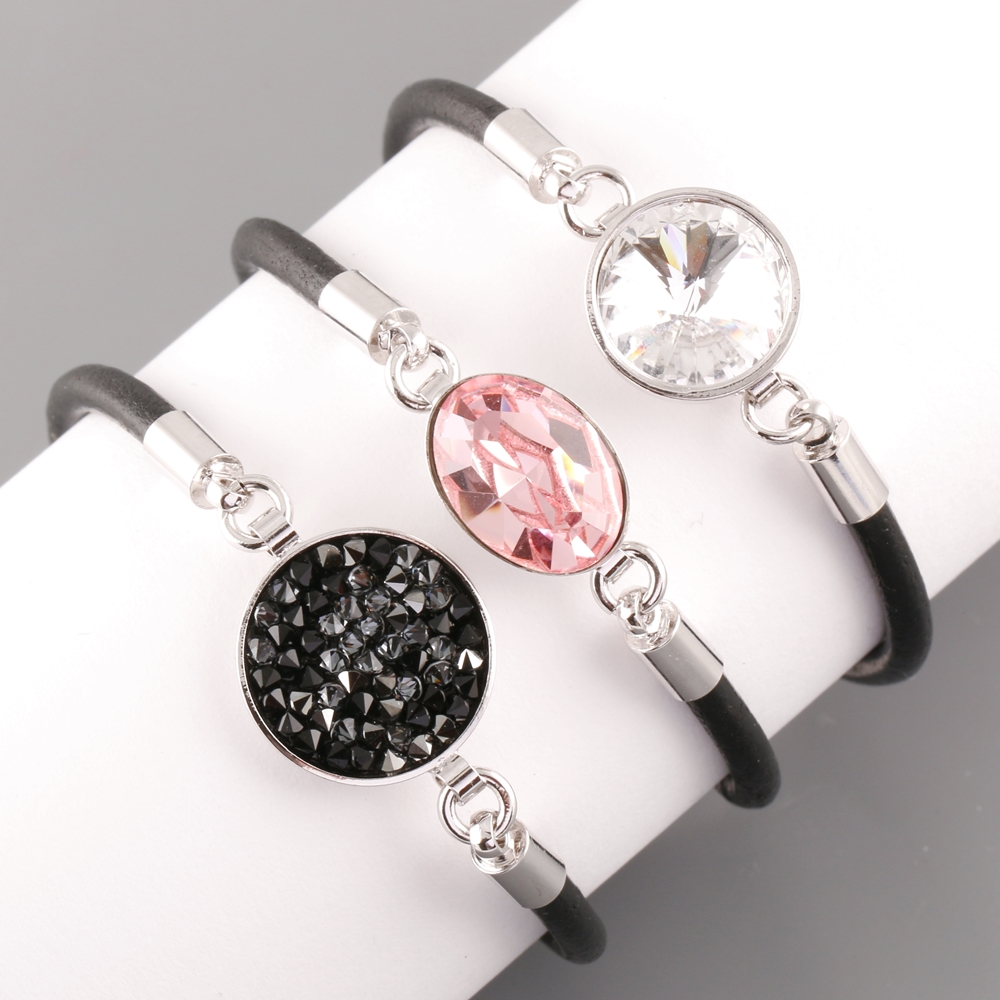 LEATHER SWAROVSKI BRACELETS