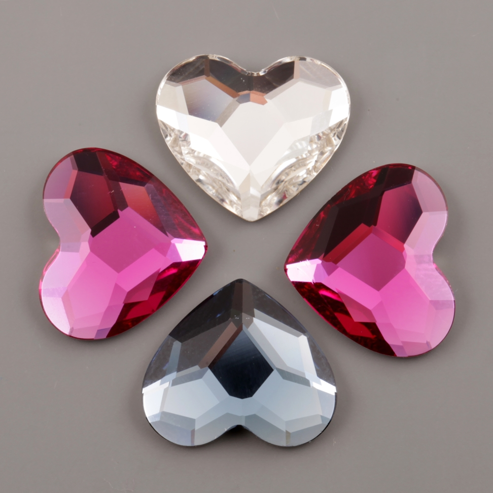 KOMPONENTY SWAROVSKI ELEMENTS FLAT BACK HEART