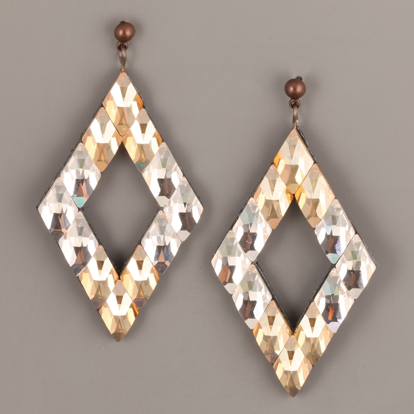 Swarovski Elements and leather earrings by VERY