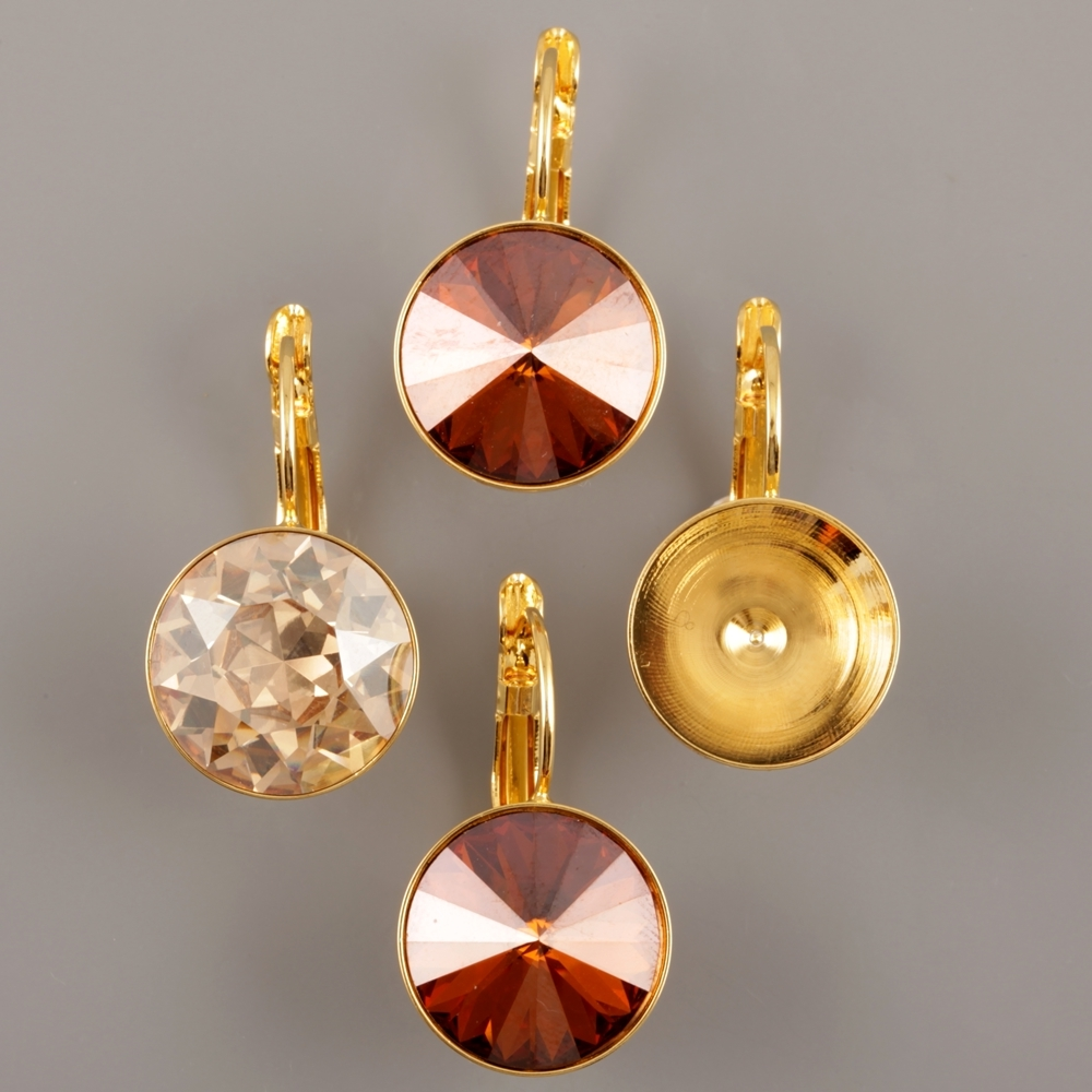 Gold plated findings for Swarovski Elements