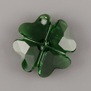 Swarovski Elements přívěsky 6764 - Čtyřlístek - Dark Moss Green - 19mm