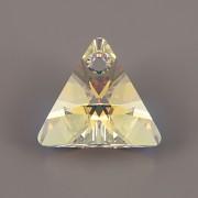 Swarovski Elements přívěsky 6628 - XILION Triangle - Crystal AB - 12mm