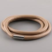 Kožený náramek VERY SWEET - béžový magnetický