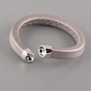 Kožený náramek SNAKE pro Šatony Swarovski Elements 8mm - Silver Silver
