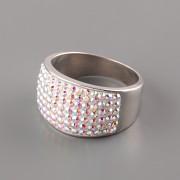 Prsten MAT s kamínky Swarovski Elements - Crystal AB - 55