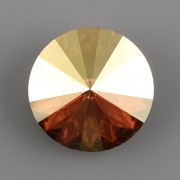 Swarovski Elements Rivoli 1122 – Metalic Sunshine Foiled – 14mm