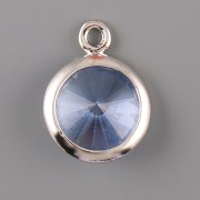 OKATÁ Rivoli Swarovski Elements - Light Sapphire - 1 očko - 10mm