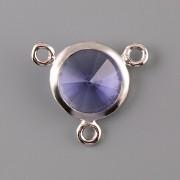 OKATÁ Rivoli Swarovski Elements - Light Sapphire - 3 očka - 12mm