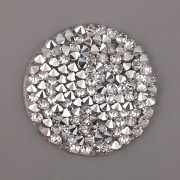 Crystal FINE Rocks Swarovski Elements - Crystal CAL na průhledném podkladu - 25mm