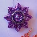 Hvězda s centrální rivolí Swarovski Elements