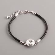 Leather Swarovski Bracelet