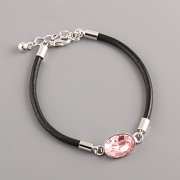 LEATHER SWAROVSKI BRACELET