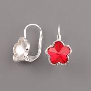 Stříbrné náušnice pro Flower Fancy Swarovski Elements 4744