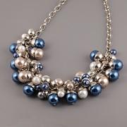 Ukázka použití - kaplíky na perličkách - náhrdelník