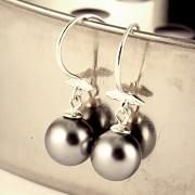 Stříbrné náušnice s perlami Swarovski Elements