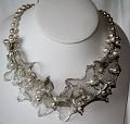 Svatební náhrdelník - drátěné stužky