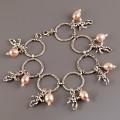 Andělsky laděný náramek s říčními perličkami