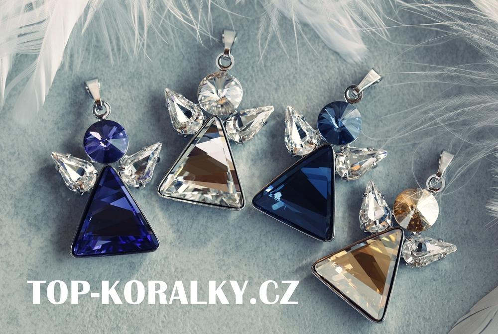 Dárek k Vánocům - přívěsek Anděl s kamínky Swarovski Dárek k vánocům ... 2e09f946ed0