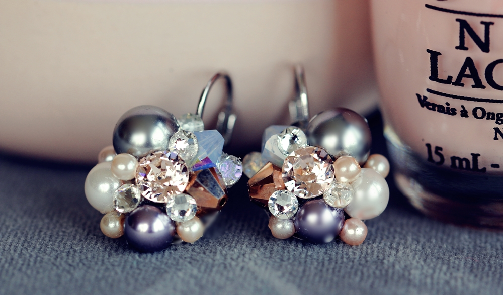 Earrings free tutorial Swarovski Beads