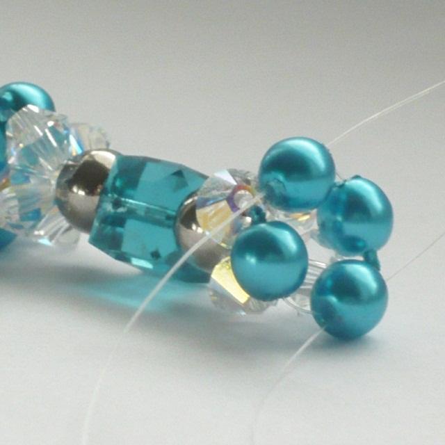 Návod na korálky - náramek s kostičkami Swarovski