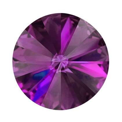 Rivoli Swarovski Elements - Amethyst Foiled 16mm
