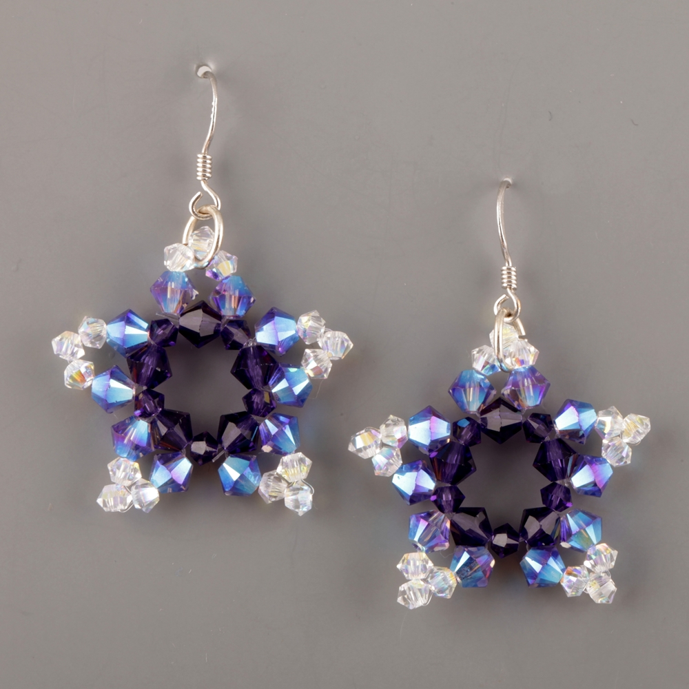 Swarovski earrings free tutorial