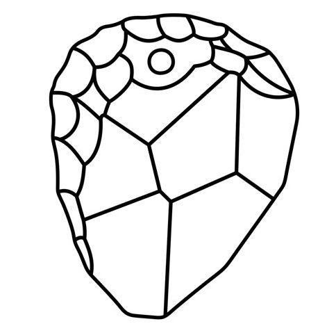 Kamen privesek Swarovski 6190