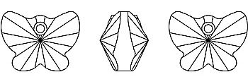 Motylek krystal Swarovski Elements 6754