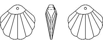 Mušle SWAROVSKI komponenty 6723