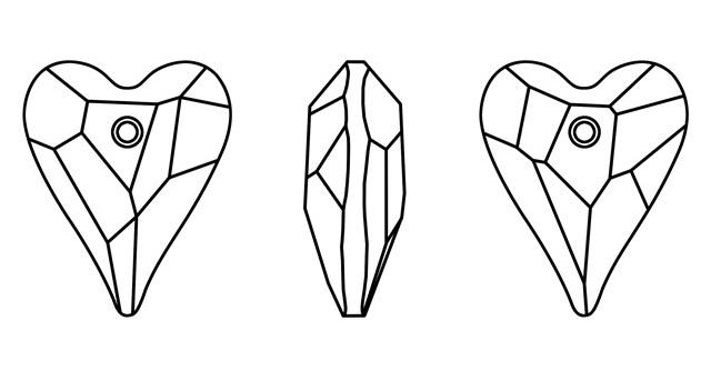 Swarovski srdce divoké 6240