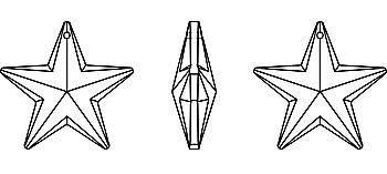 Hvezda privesek Swarovski 6714