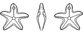 Morská hvezda krystal Swarovski 6721