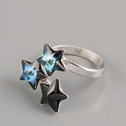 Prsten pro 3 HVĚZDIČKY Swarovski 4745 - Ag925 rhodium