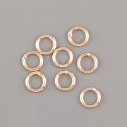 Spojovací kroužky UZAVŘENÉ - 5mm - Ag925 růžové zlato