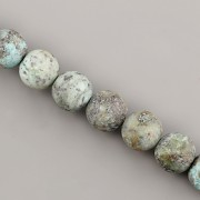 Korálky z minerálů - Tyrkys AFRIKA MAT - 8mm