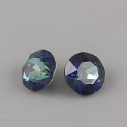 Swarovski Elements XIRIUS Chaton 1088 – Light Colorado Topaz Bermuda Blue Foiled – 8mm