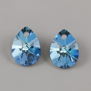 Swarovski Elements přívěsky 6128 – Mini Pear – Bermuda Blue – 10mm