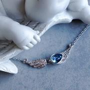 Náhrdelník S ANDĚLSKÝMI KŘÍDLY - modro-tyrkysový
