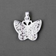 Přívěsek motýlek s bílými kamínky Swarovski Elements - větší