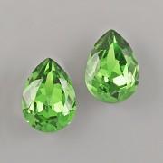 Slzička Swarovski® Crystal 4320 - Fern Green - 14mm