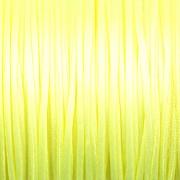 Šnůrka SATÉNOVÁ - neonová žlutá - 1mm