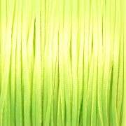 Šnůrka SATÉNOVÁ - neonová zelená - 1mm
