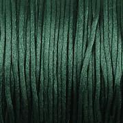 Šnůrka SATÉNOVÁ - tmavě zelená - 1mm