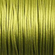 Šnůrka SATÉNOVÁ - olivově zelená - 1mm