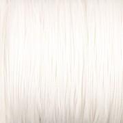 Šnůrka SPLÉTANÁ - bílá - 0,5mm