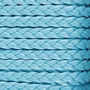 Imitace pletené kůže - tyrkysová 5mm