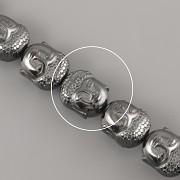 Korálky z minerálů - BUDDHA Hematite - 10mm