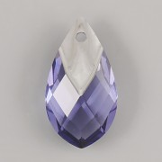 Met Cap Pear-shaped přívěsek Swarovski 6565 - Tanzanite Light Chrome - 18mm